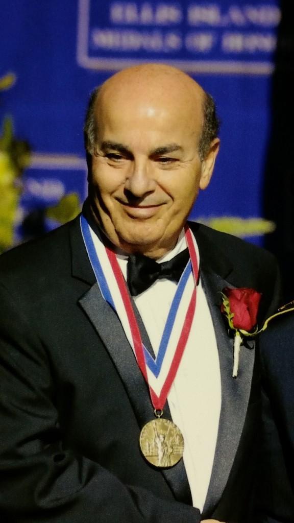 Dr. Simonian with medal 2