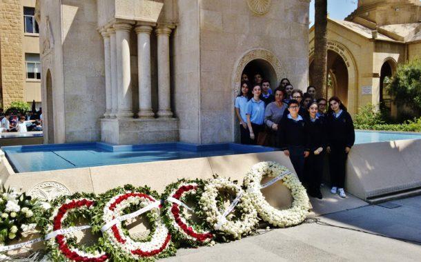 Մեծ Եղեռնի 102-Ամեակի Ոգեկոչումը Պէյրութի Վահան Թէքէեան Միջնակարգ Վարժարանին Մէջ