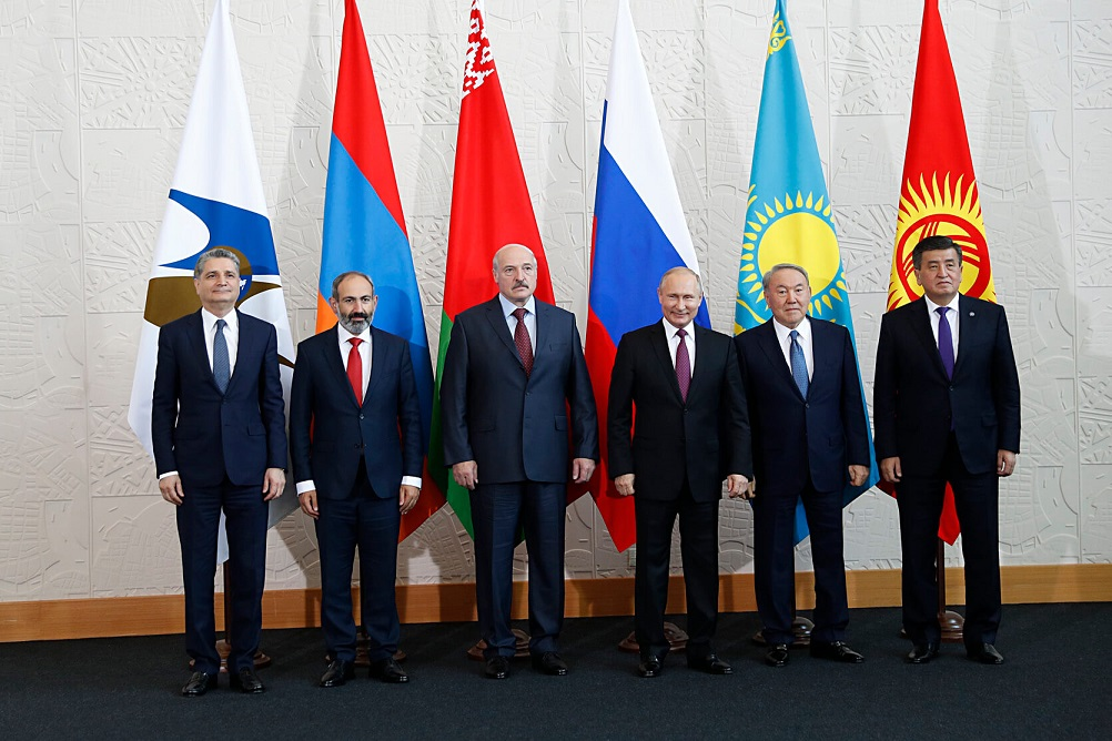 PM Pashinyan Eurasian Summit Sochi 2018