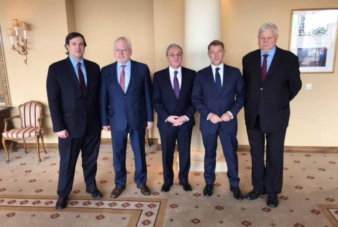 Armenian FM meets with OSCE Minsk Group Co-Chairs and Ambassador